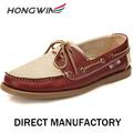 de cuero nuevo estilo de los hombres zapatos del barco