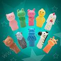 la costumbre de los animales para la educación de la familia y de plástico de fieltro títeres de dedo