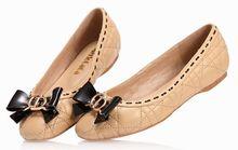 China oveja zapatos beige, pisos