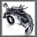 estilo venta caliente de acero inoxidable stbr368 dragón gótico pulsera en forma de
