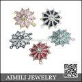 Desenhos de Flores para as Mulheres Shamballa jóias Liga conector AC93