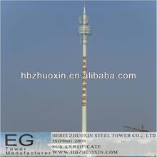 de telecomunicaciones octogonal de acero gsm de telecomunicaciones de la torre de polo
