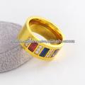 diseño del anillo de oro de acero inoxidable de la manera para los hombres