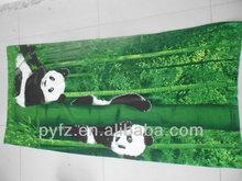 impressão de fotos em microfibra toalha de praia padrão panda preço de fábrica