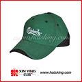 Gorras de béisbol de moda diseño bordado verde