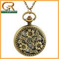 Cosecha la mitad- cazador de flores patrón antiguo reloj de bolsillo ma131