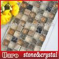 mosaico de vidrio de baldosa decorativa barato agrietada