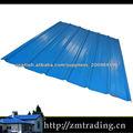 La versión en color aceros techo Barquín metal de techado
