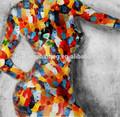 Grupo de mujeres africanas de pintura al óleo, africano abstracta mujer desnuda de pinturas para la venta