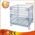 industriales de almacenamiento apilable de malla de alambre de contenedores para el almacén