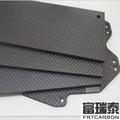 lámina de fibra de vidrio de carbono con 3K sarga tejida patrón