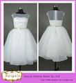 caliente de alta calidad balón vestido de organza listones apliques de encaje sexy hinchada corto vestido de novia 2013( qu0428)