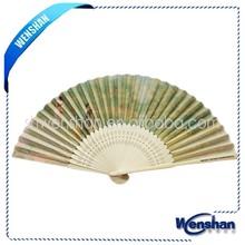 de bambú mano ventilador