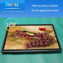 Escritorio o pared montaje marco de fotos digital de gran tamaño de 19 pulgadas HD