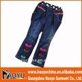 Nuevo estilo de moda las niñas niños pantalones vaqueros pantalones vaqueros niños pantalones( hy7035)