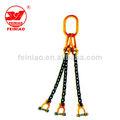 pino de segurança de três pernas de gancho de elevação sling cadeia