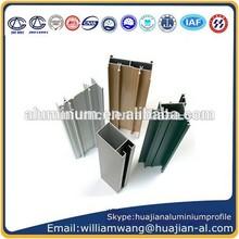 Pó revestido de perfis de alumínio para portas e janelas de quadros, janelas de alumínio anodizado frame,