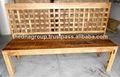 india mango de madera acabado rústico de banco