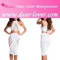 2014 de moda las mujeres de dos piezas vestido blanco turco al por mayor de ropa de mujer