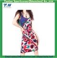 2014 nueva moda de impresión de la flor maxi largo top chaleco sin mangas vestido