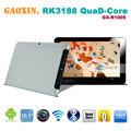 PC de la tableta de Rockchip 3188 de la pantalla de 10 pulgadas de cuatro núcleos IPS 1280 * 800 píxeles