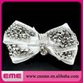 plata cristal de la moda de nueva de tiras de novia de la boda de imitación de alta flor de tacón sandalia zapato blanco