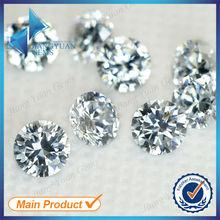 Suelta perlas Roundel 4mm Cubic Zirconia Blancos