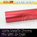 Regalo libre del cine Mate Metalizado Cromo púrpura con conexión de aire de la burbuja 152cmX20meters