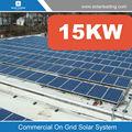 Sistema solar de conexión a red PV 15kw 15kw también llamado sistema de paneles solares con sistema de montaje solar