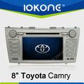 Sistema de coches de 8 pulgadas de pantalla táctil de radio de navegación GPS para Toyota Camry