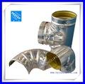 cubierta de aluminio del codo / instalación de tuberías de aislamiento