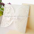 tarjeta de boda sobre marfil de encaje de moda astilla de embalaje de la tarjeta de invitación