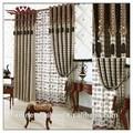 Bellagio setas blackout cortina de panel, pequeños puntos patrón de cortina, chenille tela de la cortina