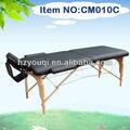 2- sección de madera plegable cama de masaje para las mujeres embarazadas