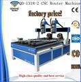 Ranurador de madera de cnc para la puerta /precio de enrutador cnc 3d QD-1318-2