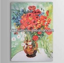 aceite imágenes pintadas de flores