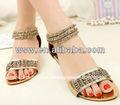la princesa 2014 el temperamento de la mujer zapatos hueco cuentas muy sexy nuevos diseños de sandalias planas