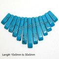 azul de moda colgantes de piedras preciosas de color turquesa se graduó de ventilador de techo