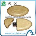 Eco-friendly de memoria flash USB de madera