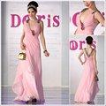 Cor rosa 2015 novo design noite chiffon vestidos de baile 2012 não. 30320