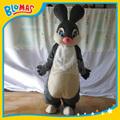 gris del conejo de conejito traje de la mascota