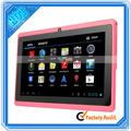 7 pulgadas tablet pc más hecho en china 8gb a13 4.0 android de color rosa