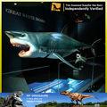 Escultura moderna figura 3d escultura modelo exibição ao ar livre modelos 3d tubarão animais