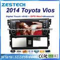 """ZESTECH Navegación 7"""" pantalla táctil radio Para Toyota Vios Yaris 2014 Dvd GPS del Coche bluetooth/TV/Radio/DVB-T2/Dvd/Gps"""