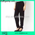 puro color pantalones de mujer negro pantalones de harén