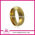 energía pulido oro de la joyería anillo de acero inoxidable