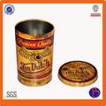 La costumbre de lata redonda, ronda de estaño, grande y redonda de lata de té