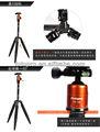 la cámara del trípode de aluminio
