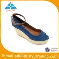 dama de la moda sandalias con plataforma