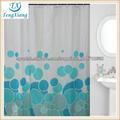 hermoso color azul ducha de poliéster cortina
